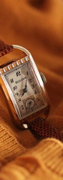 ブローバの1939年製のアンティーク腕時計-W1445-2