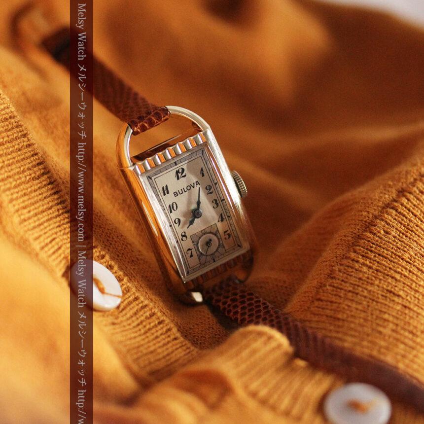 ブローバ女性用の1939年製アンティーク腕時計-W1445-2