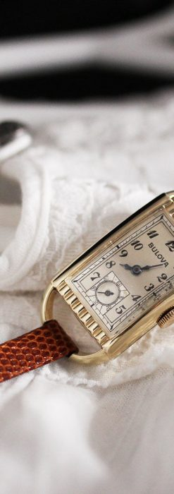 ブローバ女性用の1939年製アンティーク腕時計-W1445-3