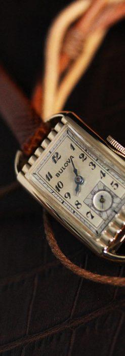 ブローバ女性用の1939年製アンティーク腕時計-W1445-5