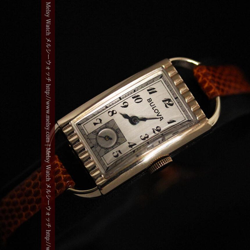 ブローバ女性用の1939年製アンティーク腕時計-W1445-6