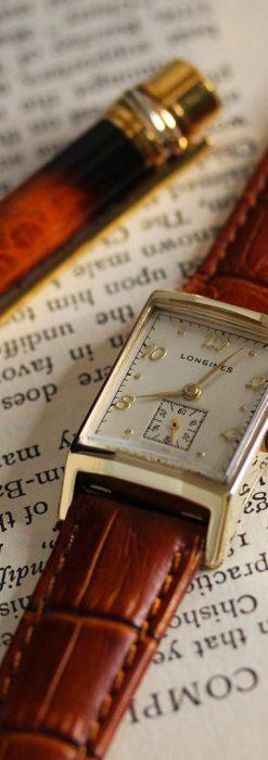 ロンジン1950年製の長方形のアンティーク腕時計-W1446-1