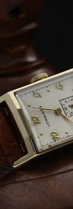 ロンジン1950年製の長方形のアンティーク腕時計-W1446-11