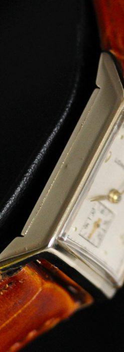 ロンジン1950年製の長方形のアンティーク腕時計-W1446-13