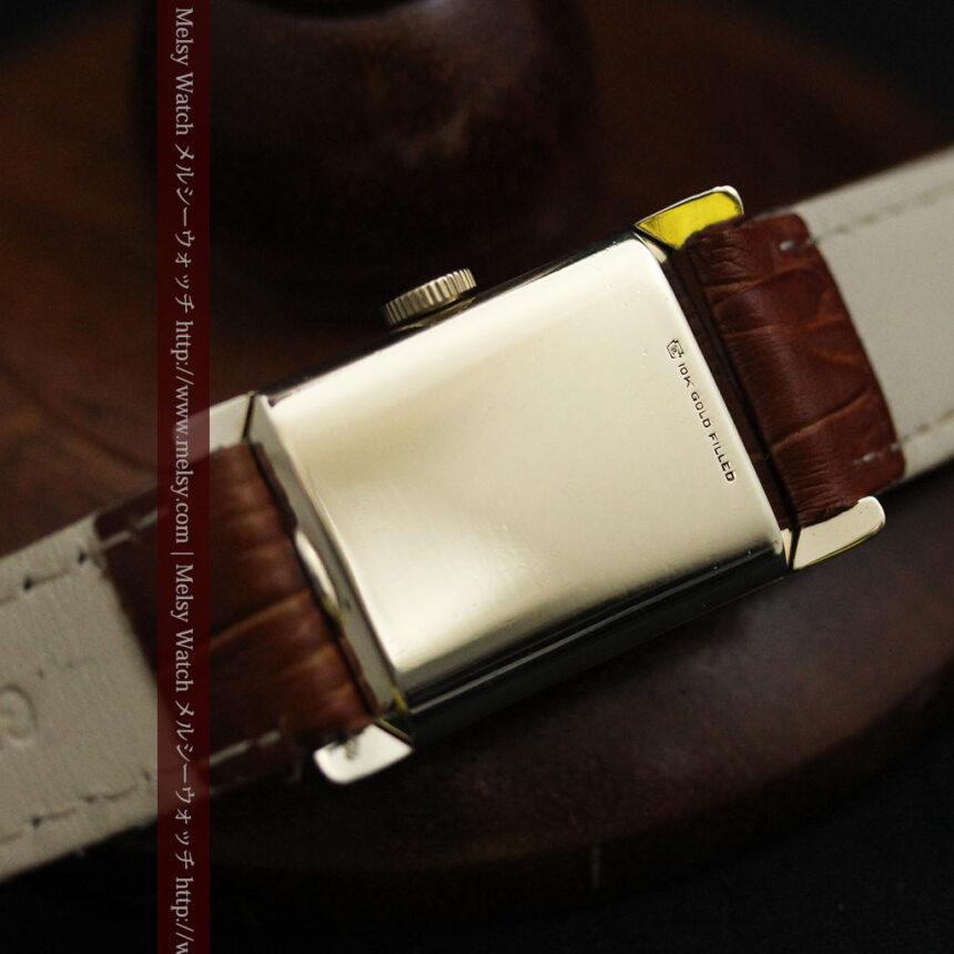 ロンジン1950年製の長方形のアンティーク腕時計-W1446-14