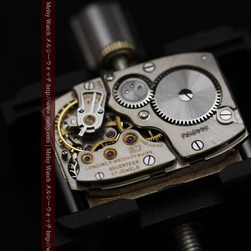 ロンジン1950年製の長方形のアンティーク腕時計-W1446-16