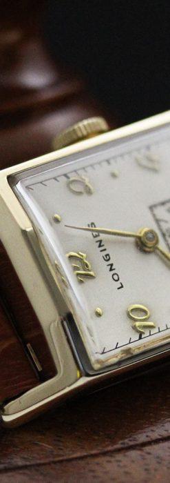 ロンジン1950年製の長方形のアンティーク腕時計-W1446-2
