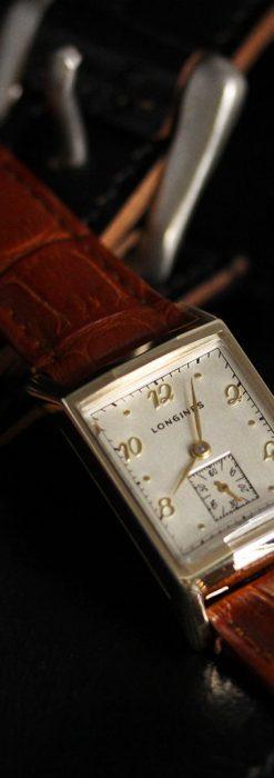 ロンジン1950年製の長方形のアンティーク腕時計-W1446-3