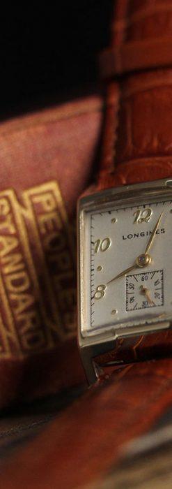 ロンジン1950年製の長方形のアンティーク腕時計-W1446-4