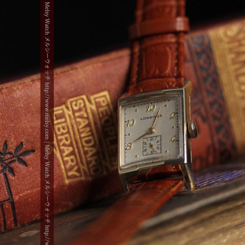 ロンジンの1950年製のアンティーク腕時計-W1446-4