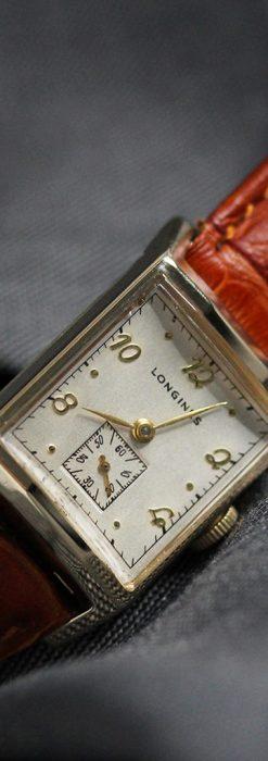 ロンジン1950年製の長方形のアンティーク腕時計-W1446-7
