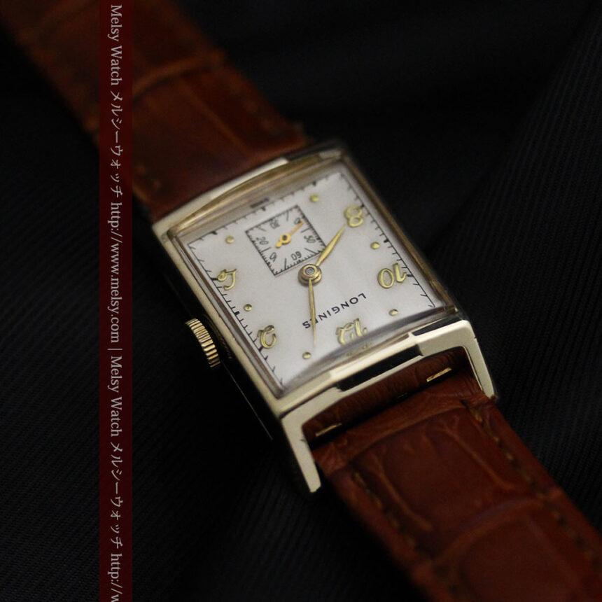 ロンジン1950年製の長方形のアンティーク腕時計-W1446-8
