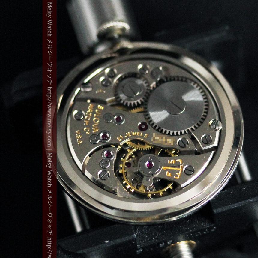 黒にダイヤモンドの映えるブローバの1954年製のアンティーク腕時計-W1447-18