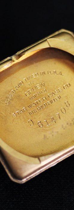 グリュエンの1945年頃のダイヤモンド装飾が綺麗なアンティーク腕時計-W1448-17