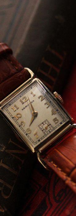 ハミルトンの縦長のアンティーク腕時計-W1449-1