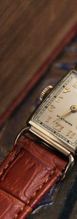 ハミルトンの縦長のアンティーク腕時計-W1449-2