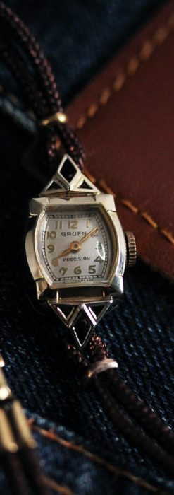 グリュエンの女性用腕時計トライアングル-W1450-1