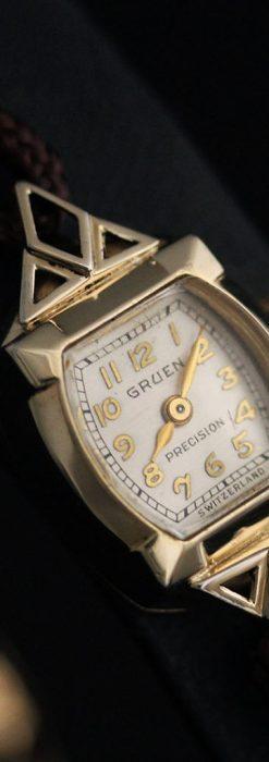 グリュエンの女性用腕時計トライアングル-W1450-10