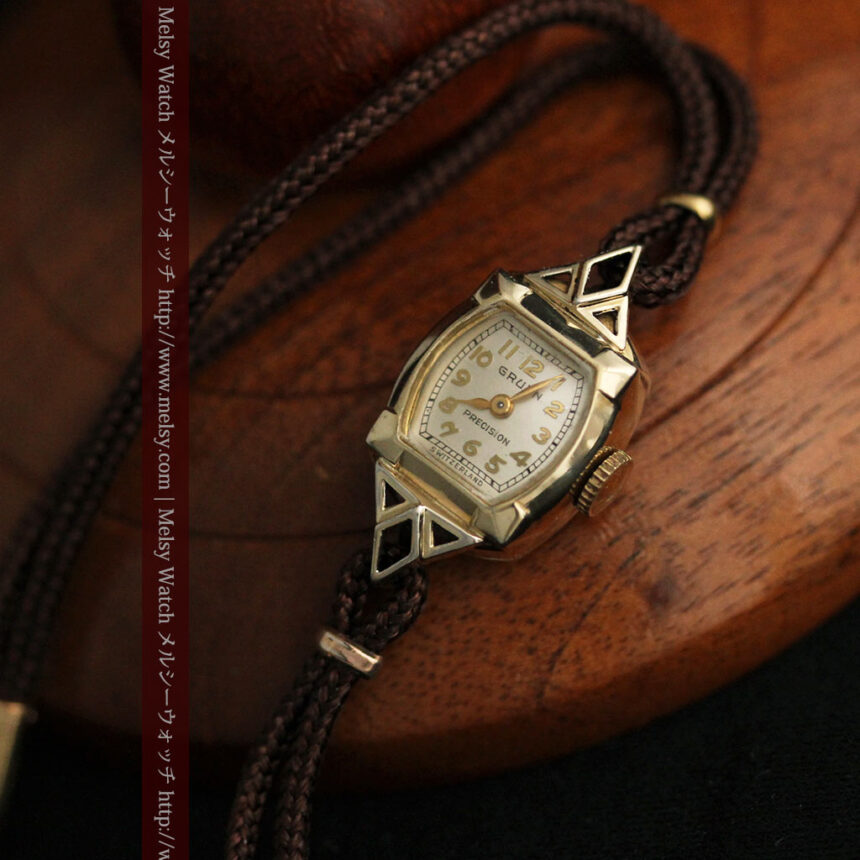 グリュエンの女性用腕時計トライアングル-W1450-7