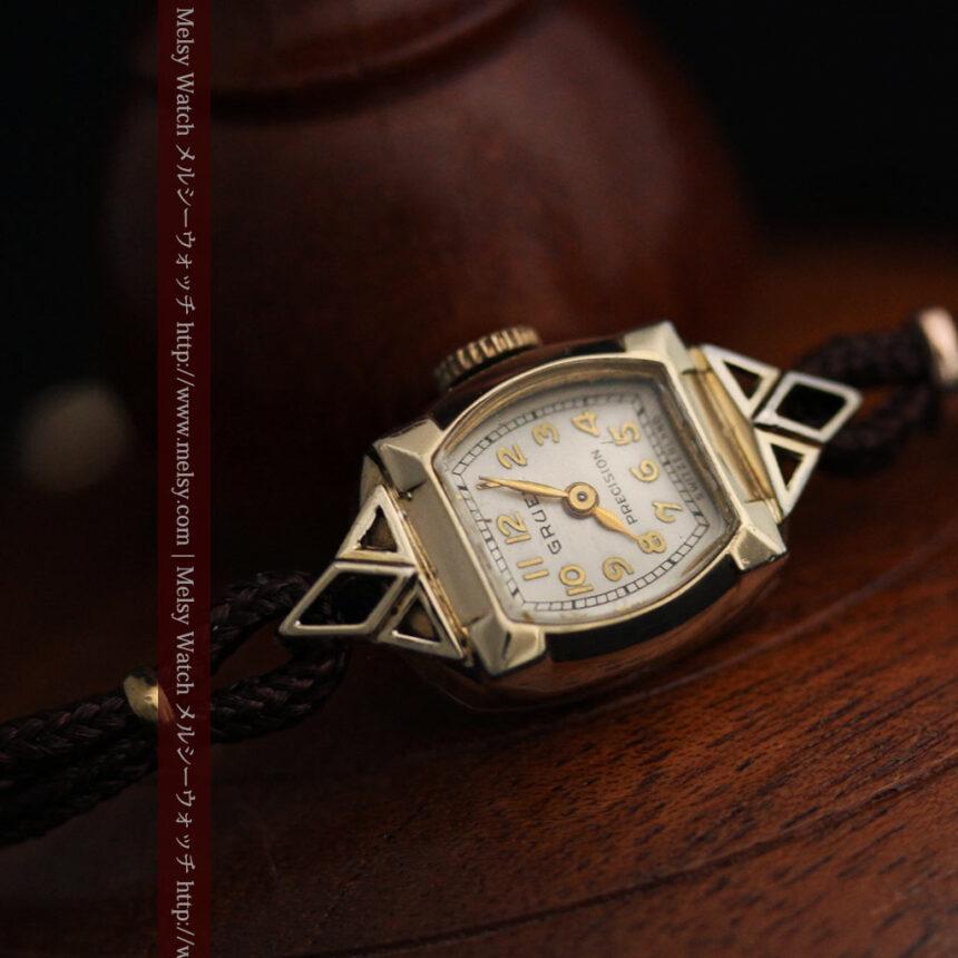 グリュエンの女性用腕時計トライアングル-W1450-8
