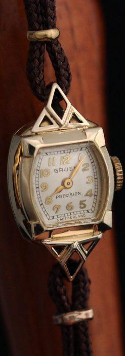 グリュエンの女性用腕時計トライアングル-W1450-9