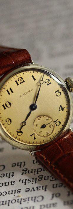 ウォルサムのシンプルな女性用アンティーク腕時計-W1451-2