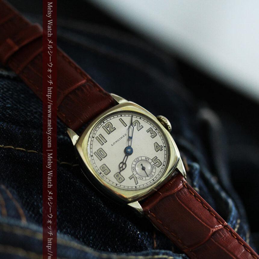ロンジンのカジュアルなアンティーク腕時計-W1452-3