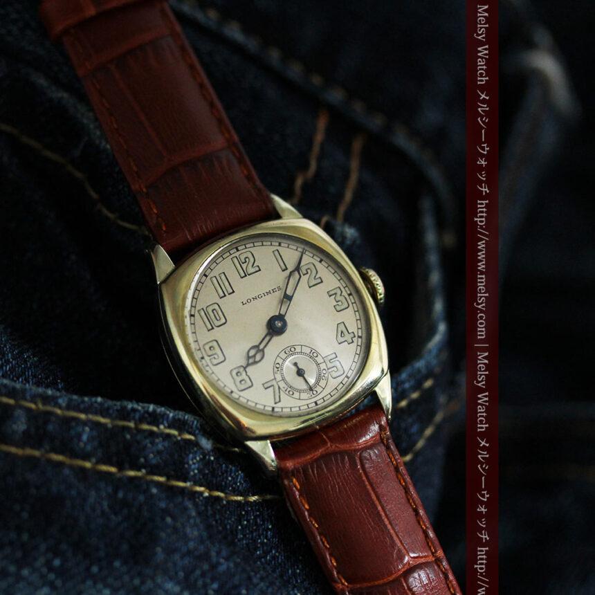 ロンジンのカジュアルなアンティーク腕時計-W1452-5