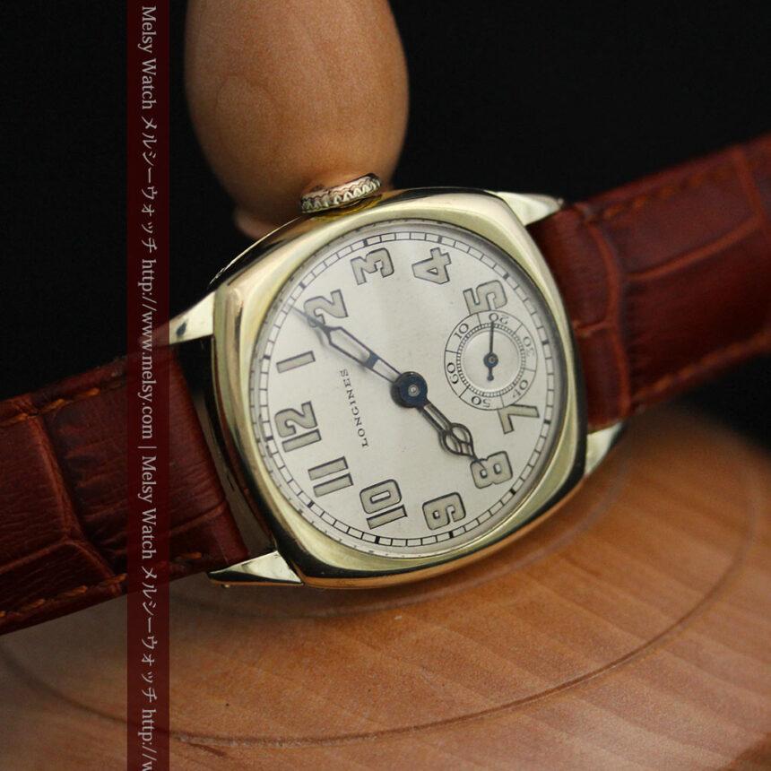 ロンジンのカジュアルなアンティーク腕時計-W1452-9