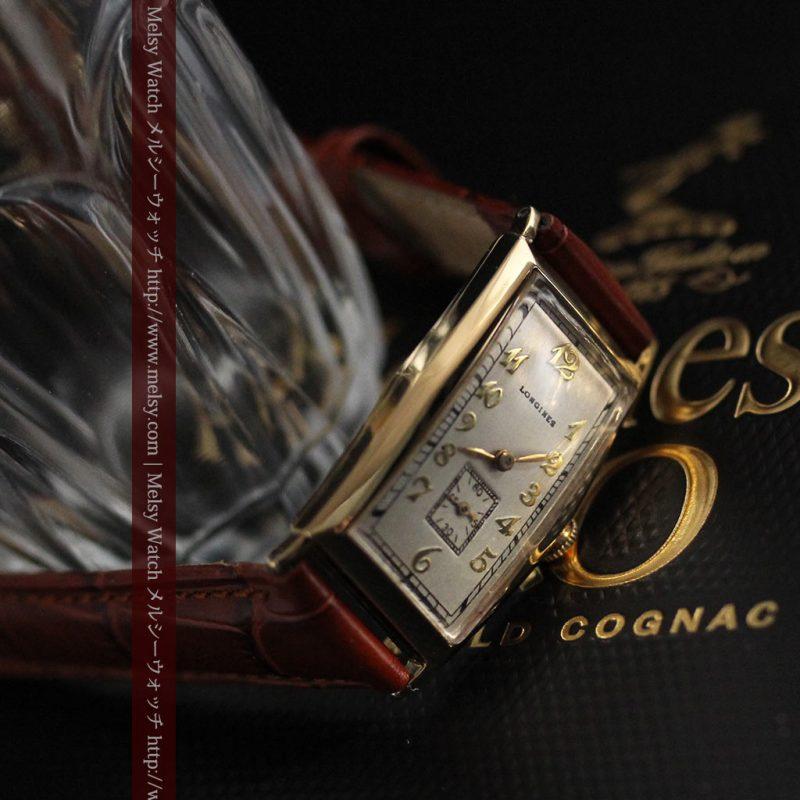 ロンジンの縦長のアンティーク腕時計-W1453-1