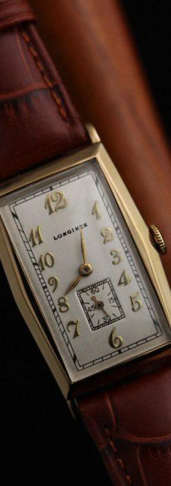ロンジンの縦長のアンティーク腕時計-W1453-10