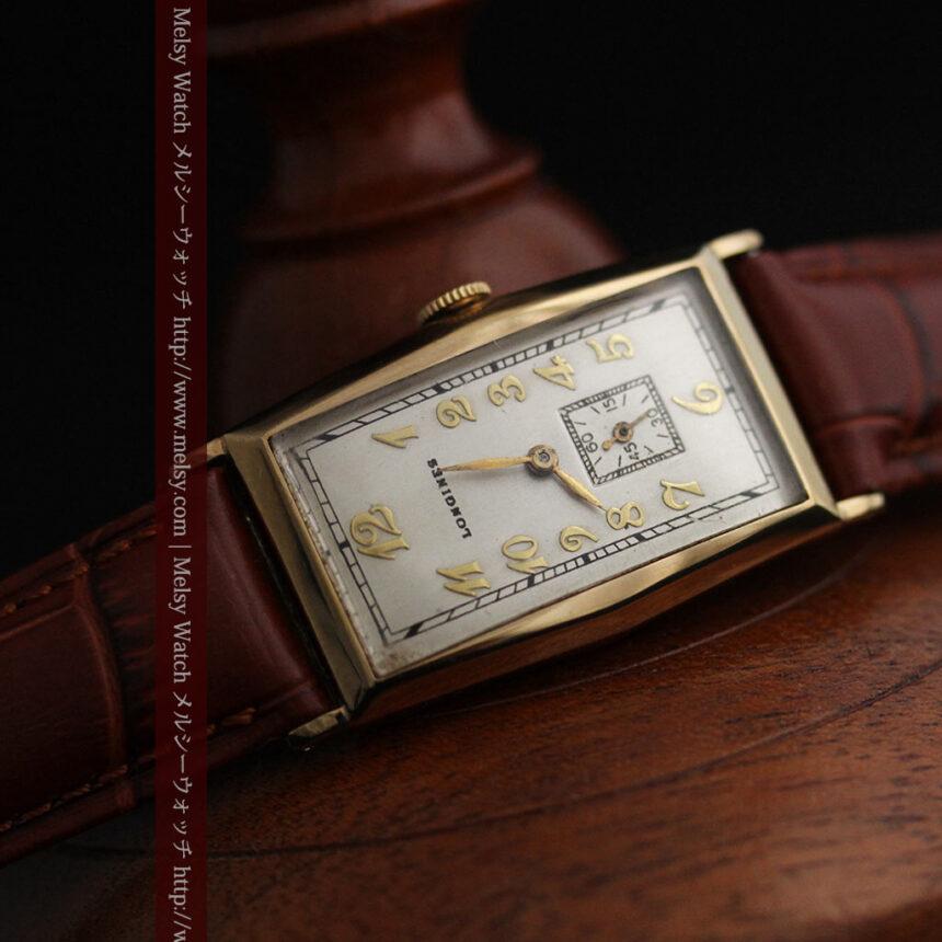 ロンジンの縦長のアンティーク腕時計-W1453-11