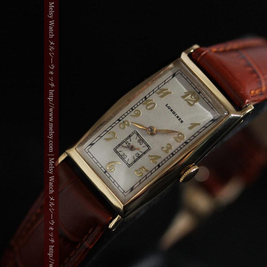 ロンジンの縦長のアンティーク腕時計-W1453-12