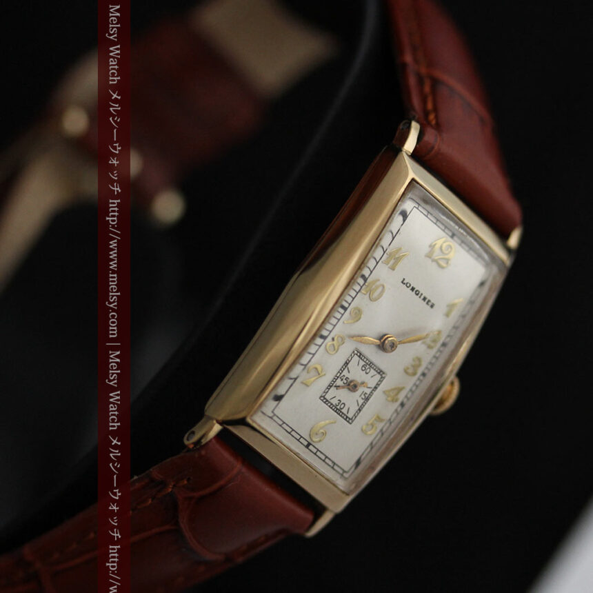ロンジンの縦長のアンティーク腕時計-W1453-13