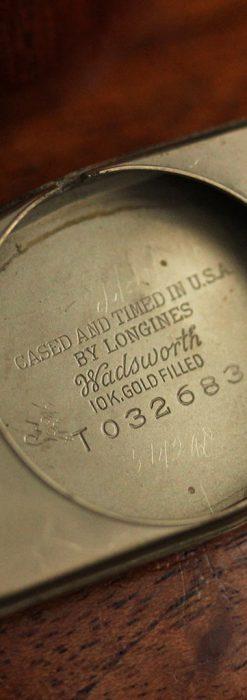 ロンジンの縦長のアンティーク腕時計-W1453-15
