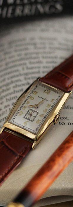 ロンジンの縦長のアンティーク腕時計-W1453-2
