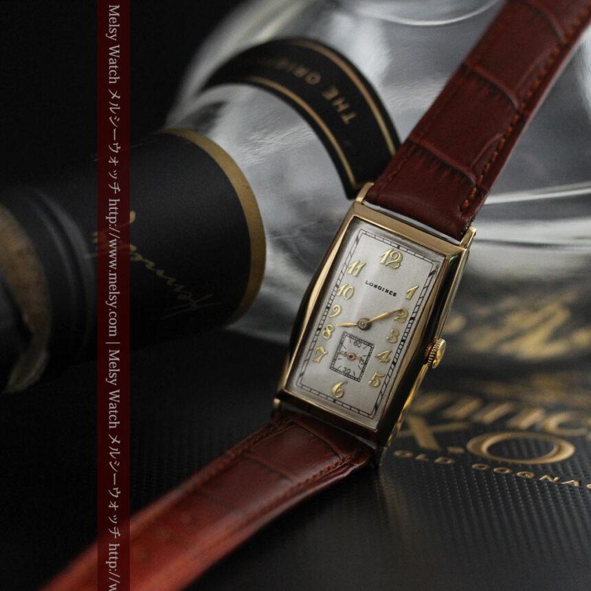 ロンジンの縦長のアンティーク腕時計-W1453-3