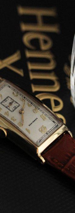 ロンジンの縦長のアンティーク腕時計-W1453-4