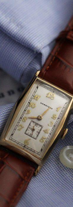 ロンジンの縦長のアンティーク腕時計-W1453-5
