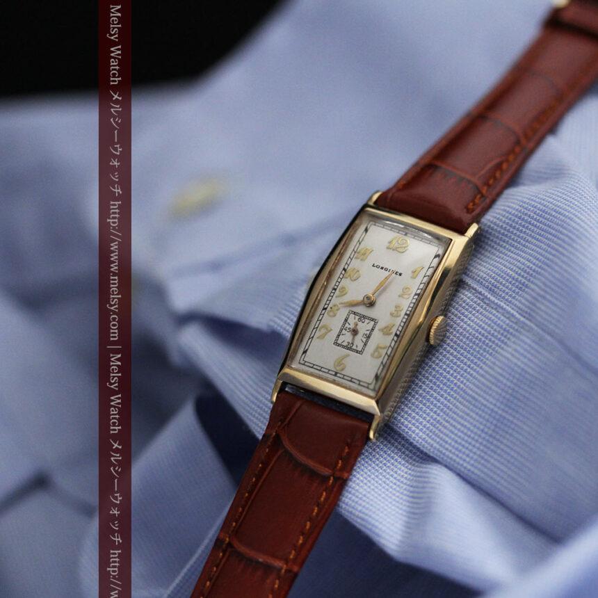 ロンジンの縦長のアンティーク腕時計-W1453-6