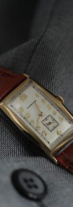 ロンジンの縦長のアンティーク腕時計-W1453-7
