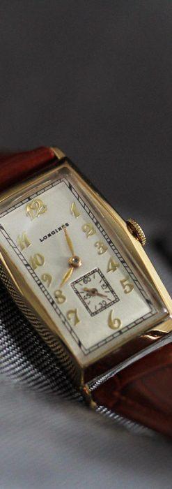 ロンジンの縦長のアンティーク腕時計-W1453-8
