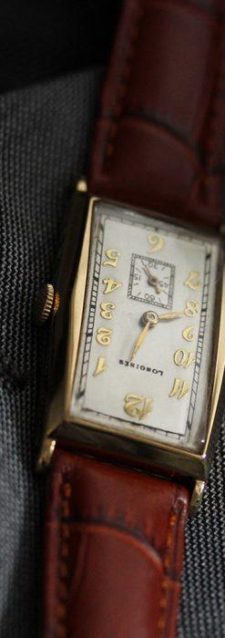 ロンジンの縦長のアンティーク腕時計-W1453-9