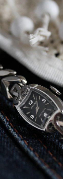 グリュエンの婦人物金無垢腕時計-W1454-1