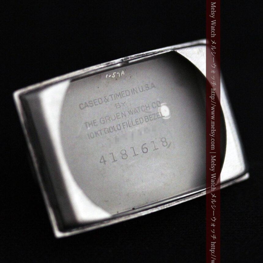 グリュエンのローズ色のアンティーク腕時計-W1455-15
