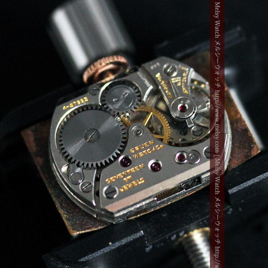 グリュエンのローズ色のアンティーク腕時計-W1455-16
