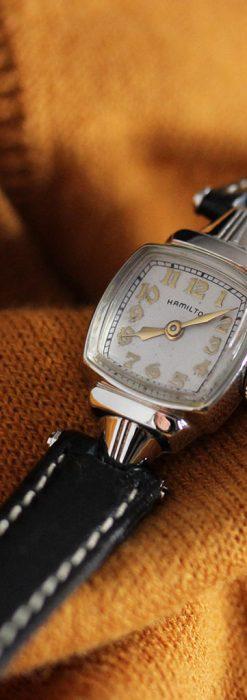 ハミルトン1940年頃の婦人物アンティーク腕時計-W1456-1