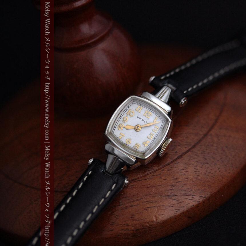 ハミルトン1940年頃の婦人物アンティーク腕時計-W1456-10