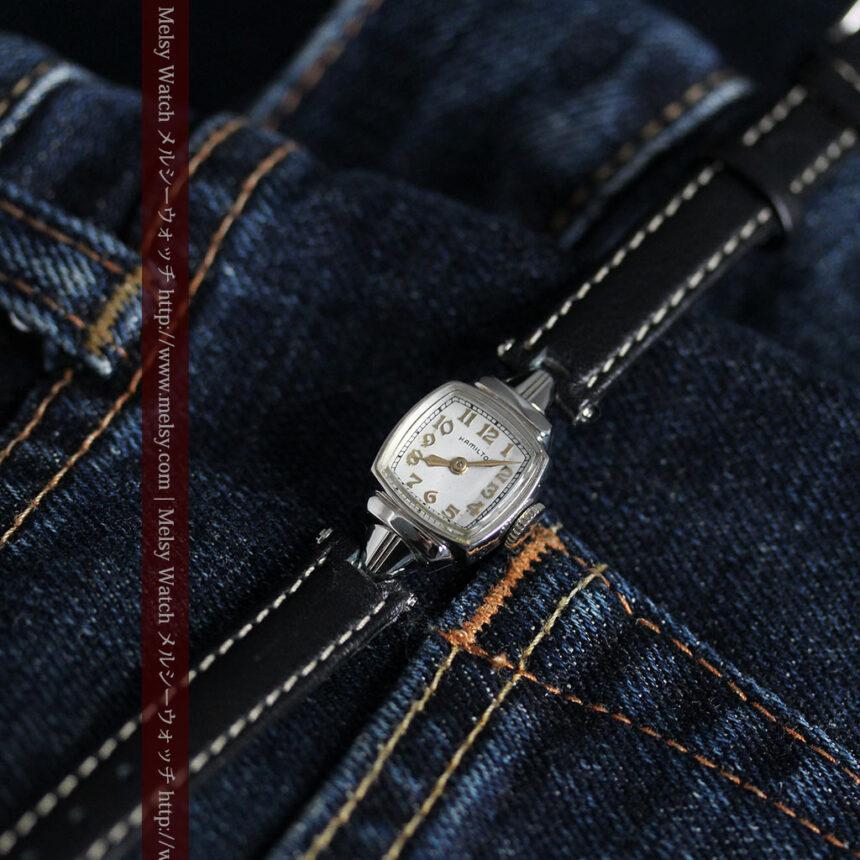 ハミルトン1940年頃の婦人物アンティーク腕時計-W1456-2