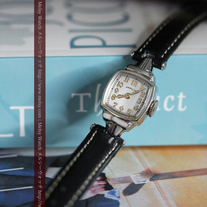 ハミルトン1940年頃の婦人物アンティーク腕時計-W1456-3